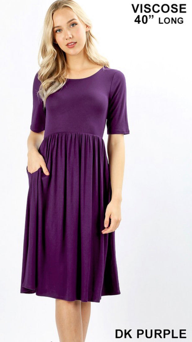 Purple Haze Midi Dress
