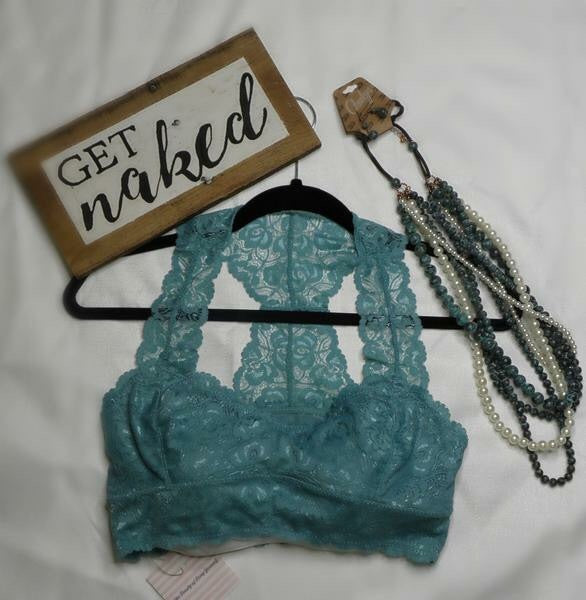 Lace T-back Bralette Plus Size