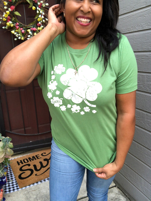 Many Clovers Graphic Tee
