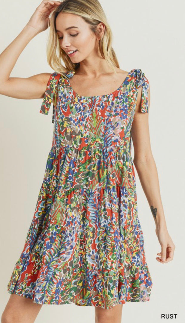Watercolor Babydoll Dress