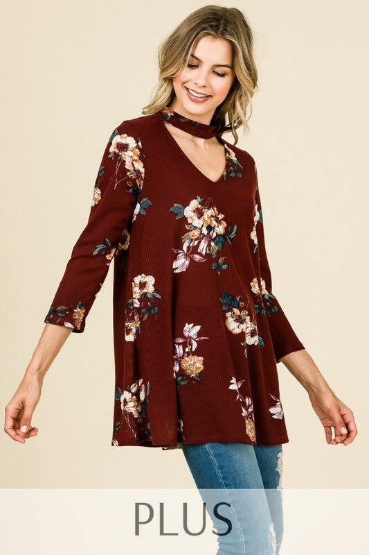 Sweet Caroline-Plus Size Tunic