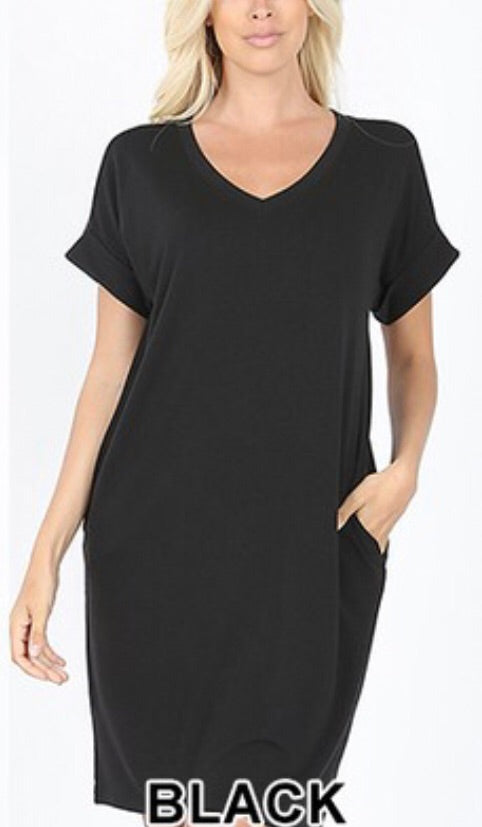 Vneck T-Shirt Dress