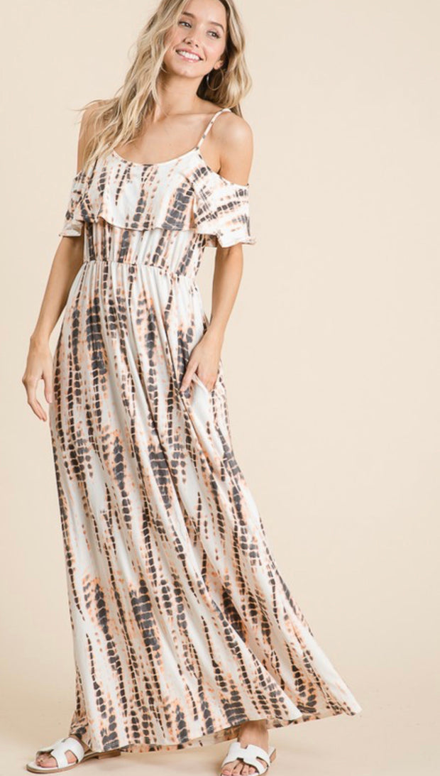Last Resort Tie Dye Maxi Dress