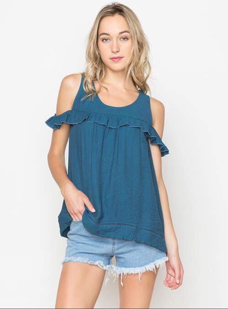 Summer Breeze Cold Shoulder Top