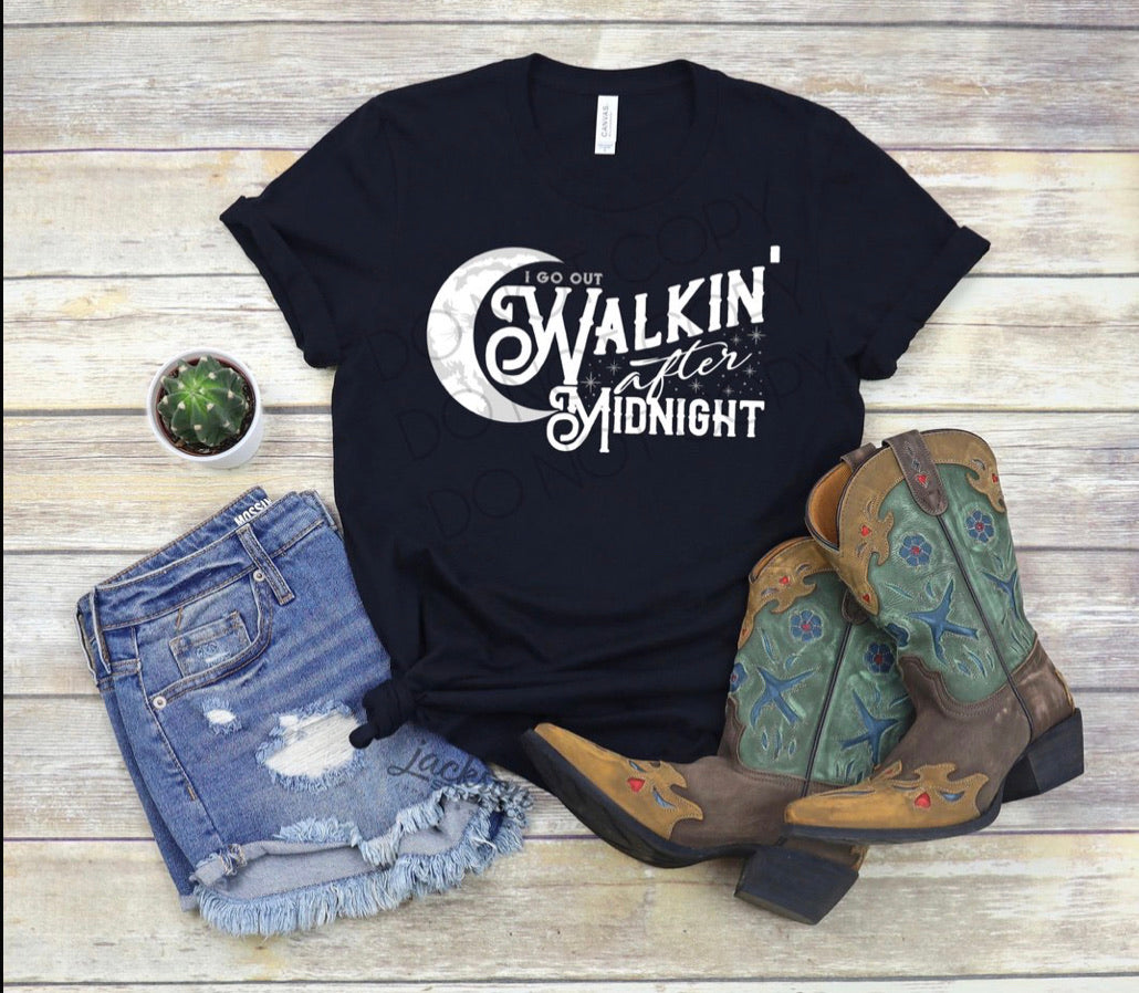 Walkin after Midnight Graphic Tee