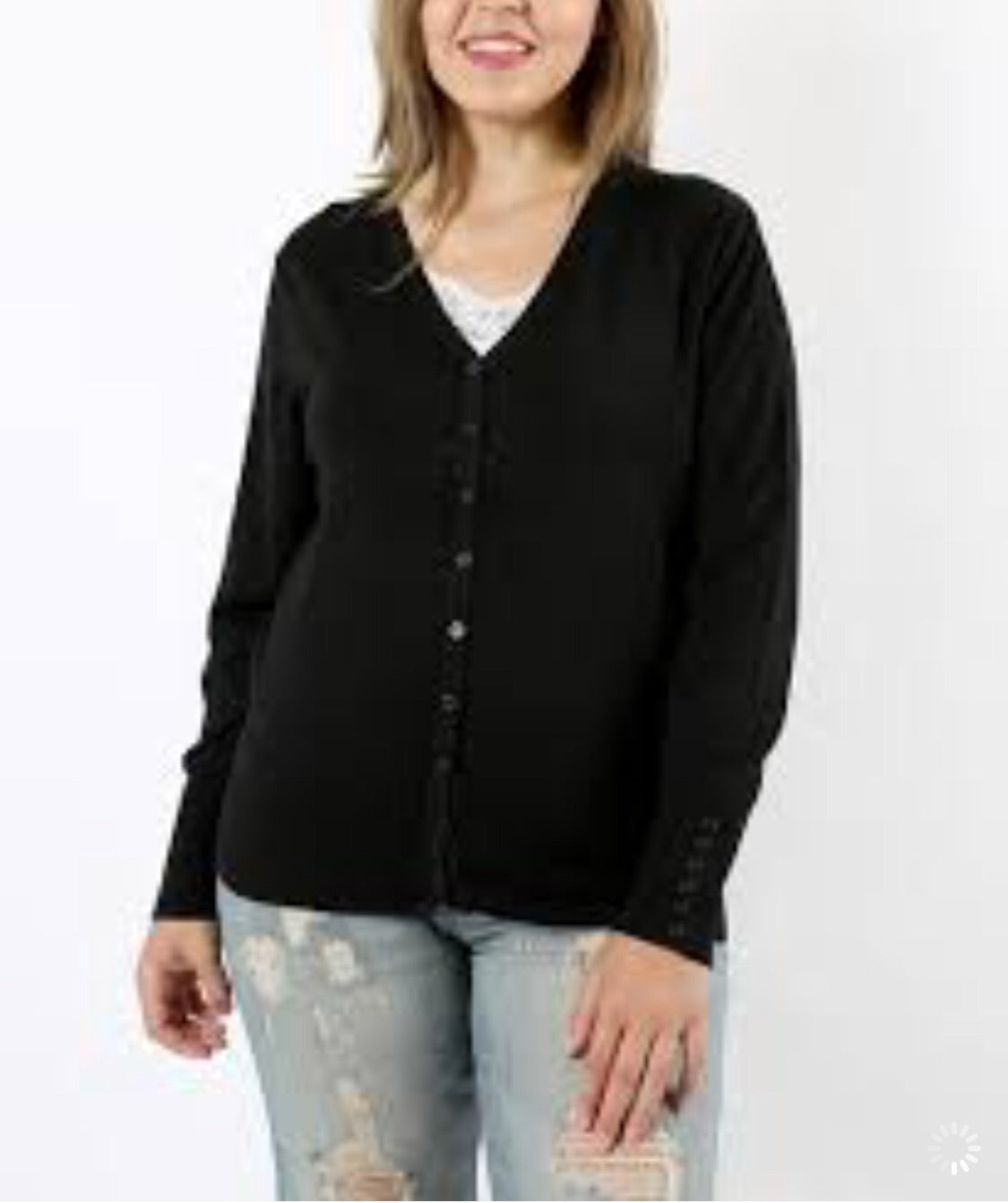 Black Cardigan-Plus