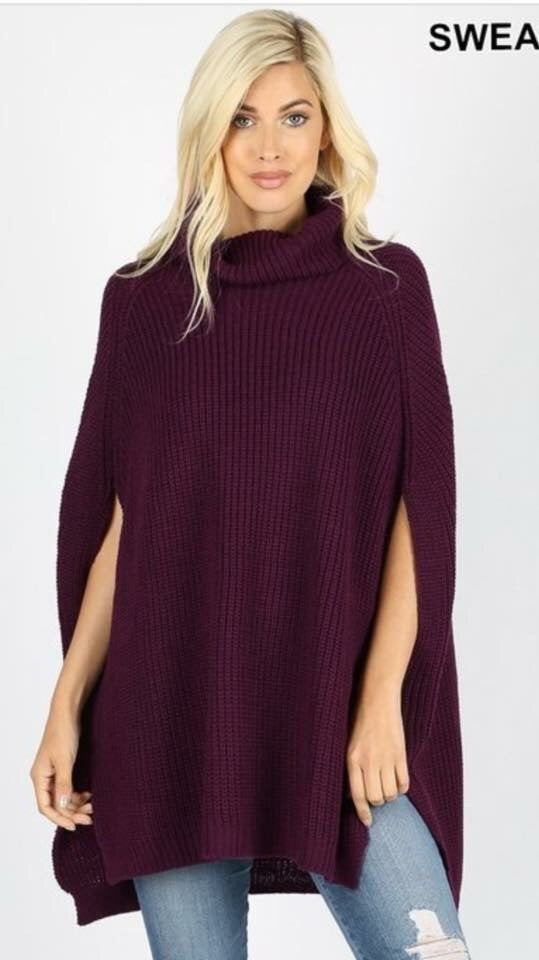 Poncho Sleeveless Sweater