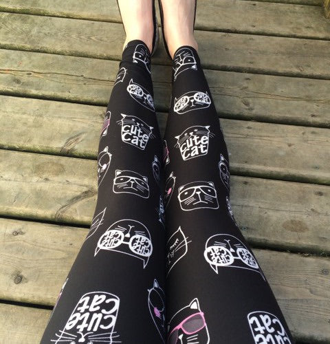 Cute Cat Leggings-Plus
