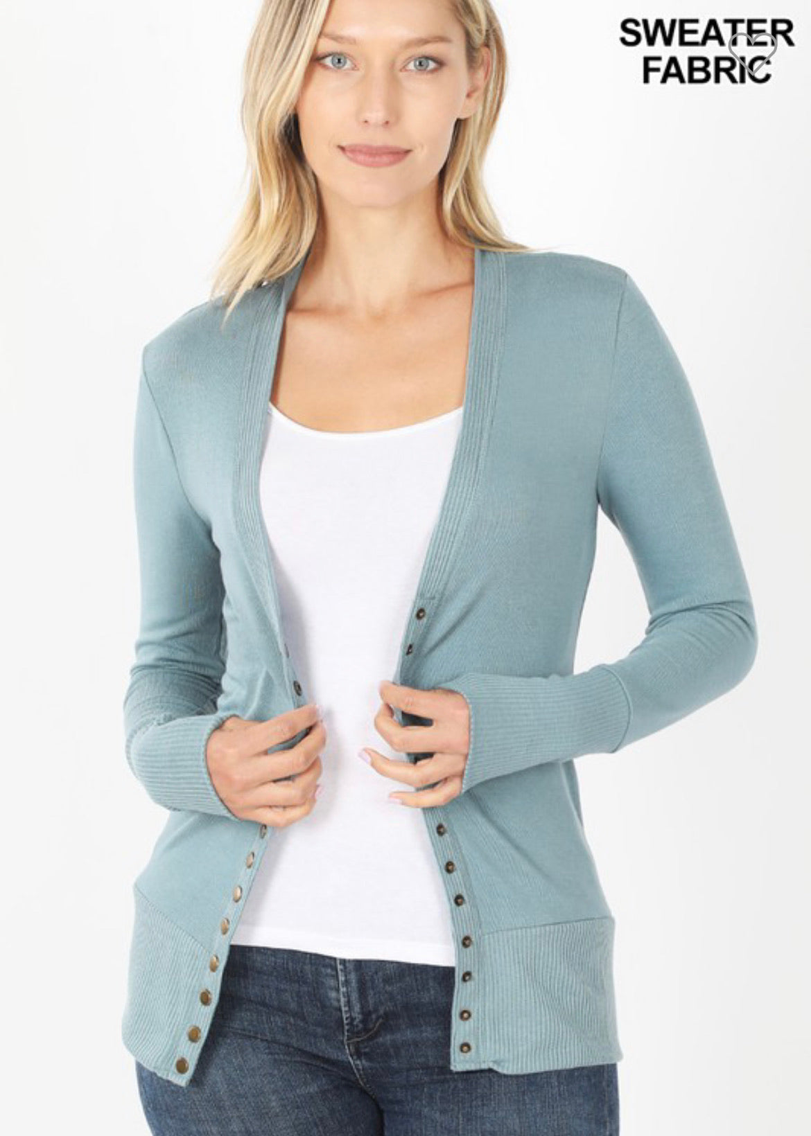 Snap Closure Cardigan-Regular Sizes