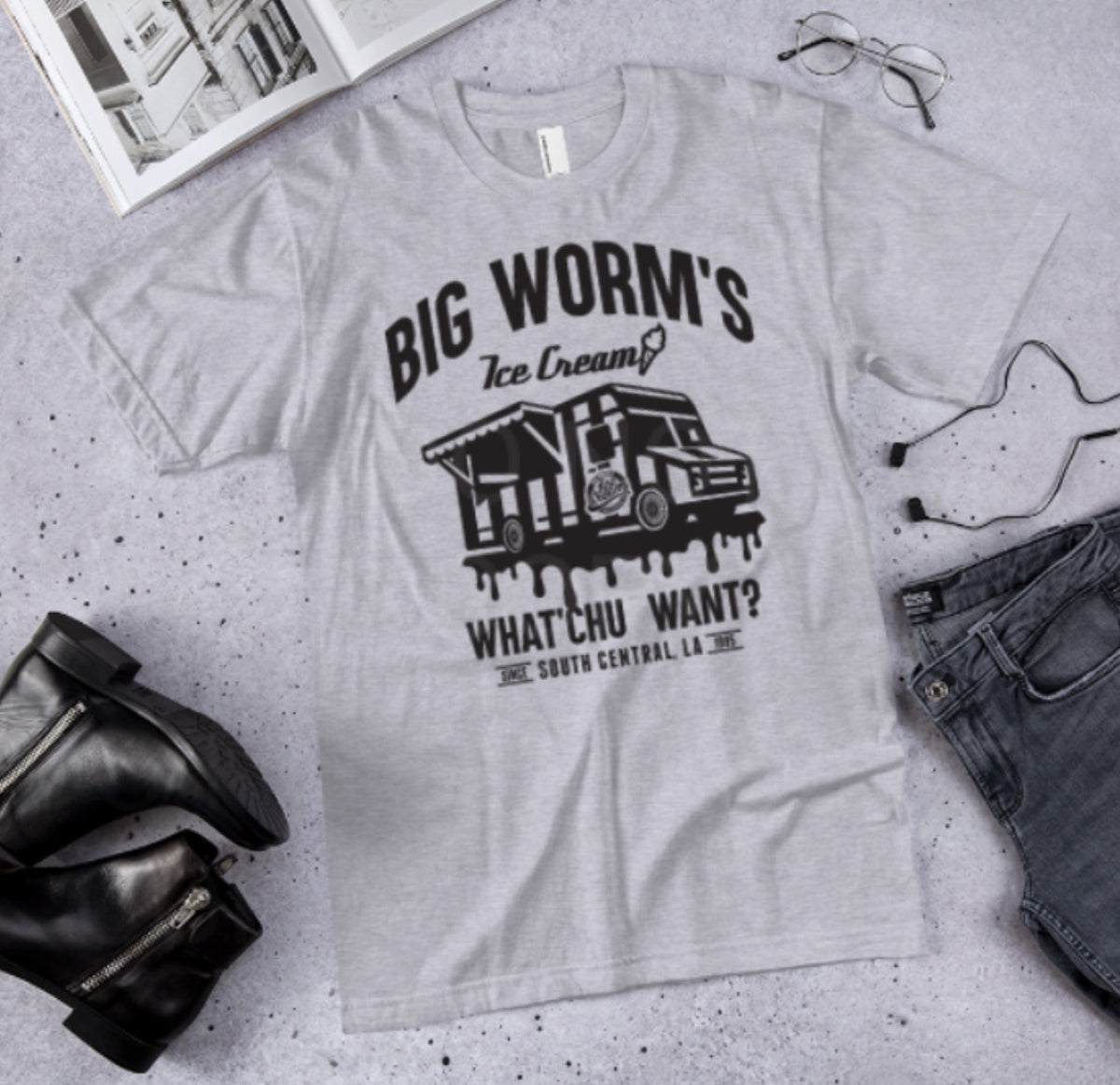Big Worm's Ice Cream Graphic Tee
