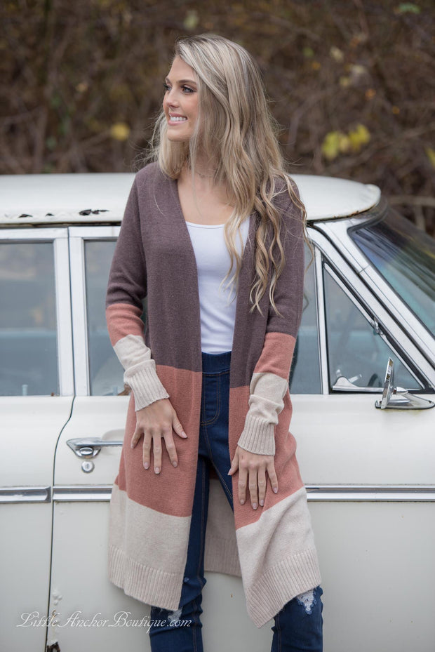 Cabbie Colorblock Cardigan