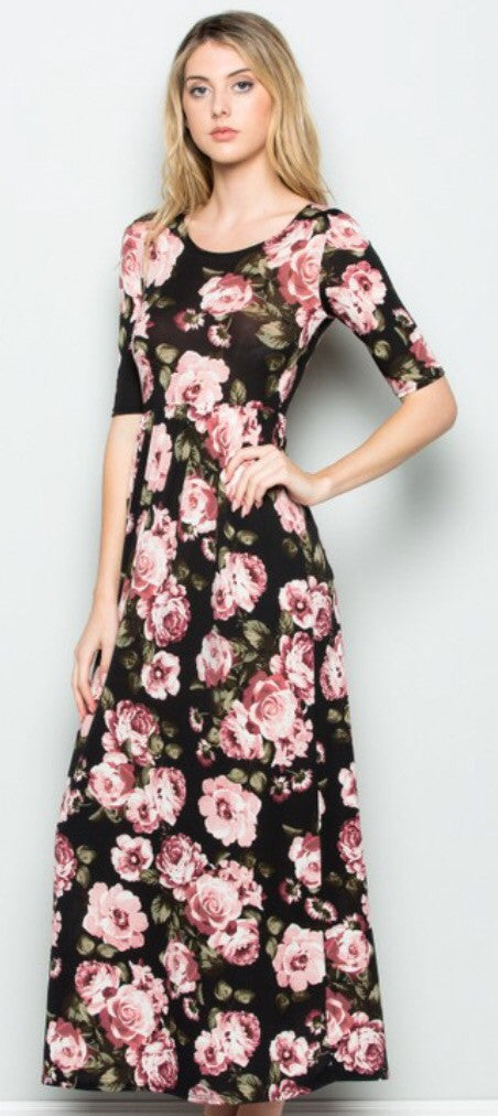 Full-Length Floral Dress