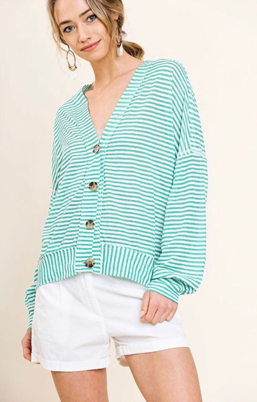 Cooper Button-Front Cardigan