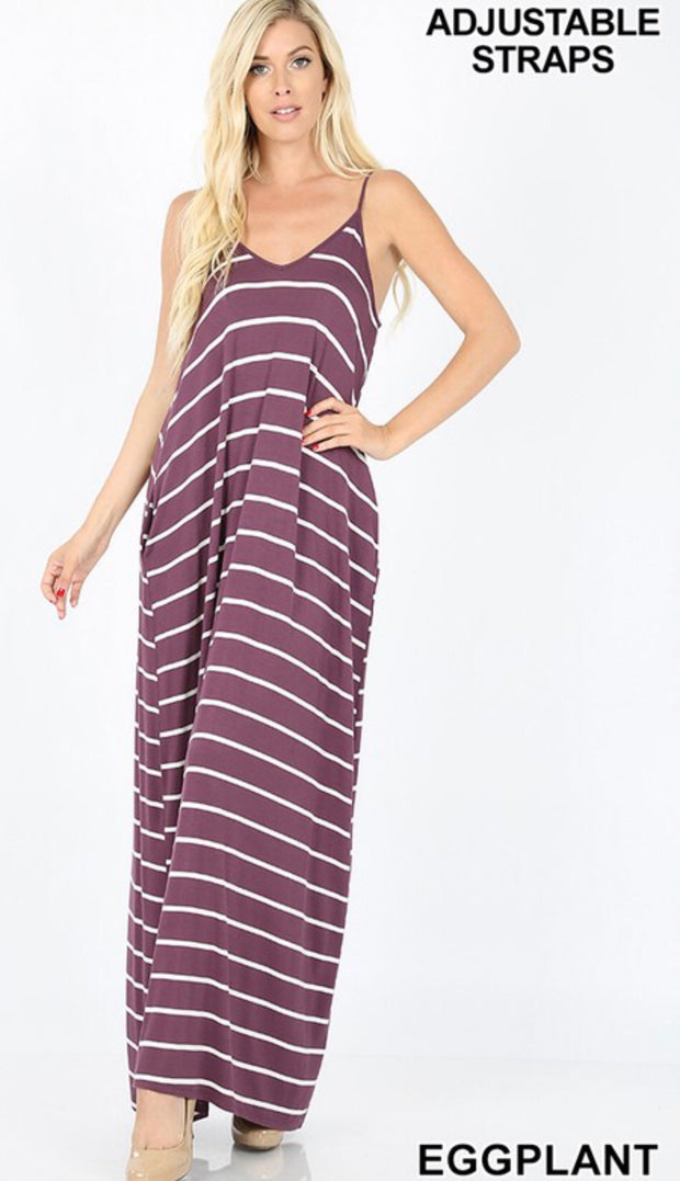 Striped Harem Maxi Dress