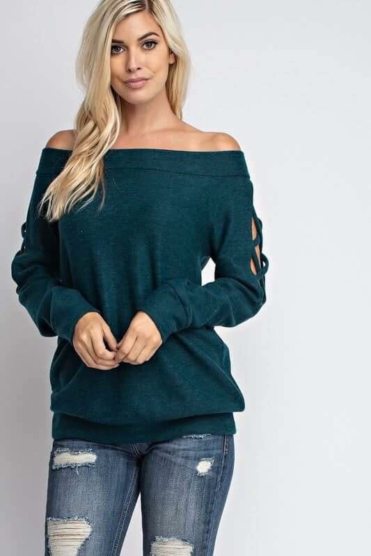 Fall in Love Off the Shoulder Sweater