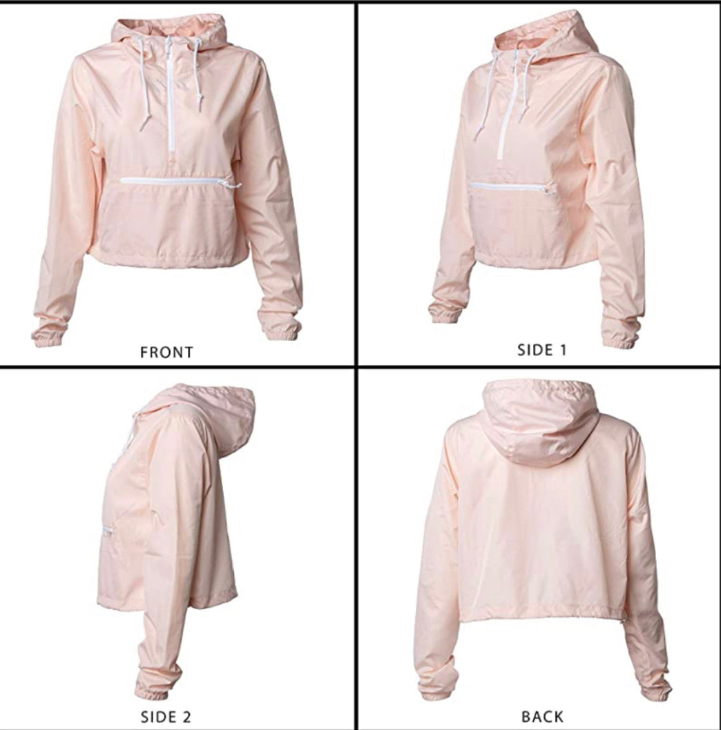 Cropped Windbreaker (Blush & Camo)