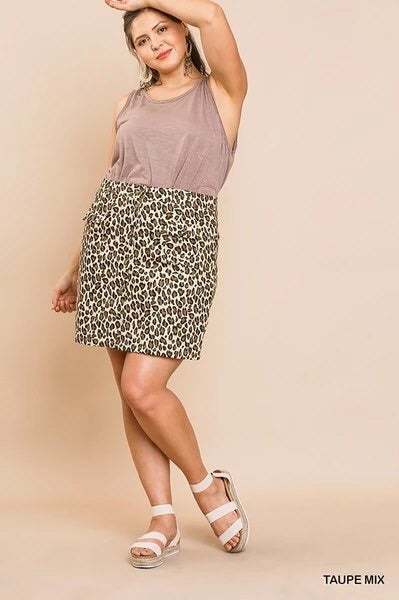 Make 'em Roar Mini Skirt Plus Sizes