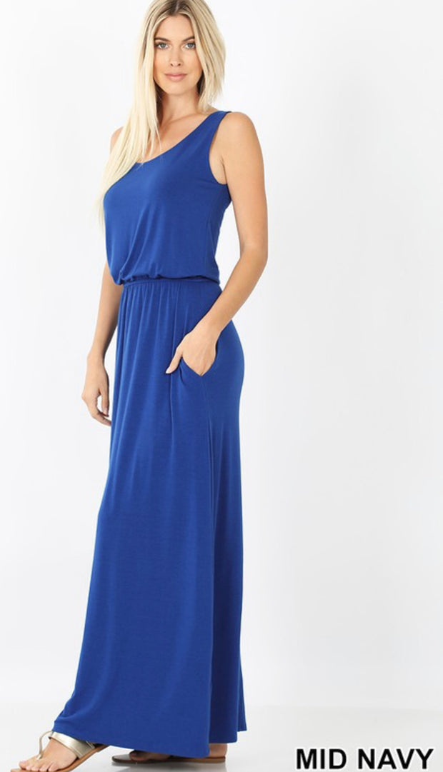 Bubble Top Maxi Dress
