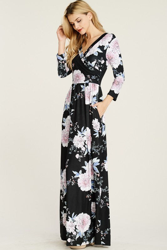 Beloved Wrap Floral Dress