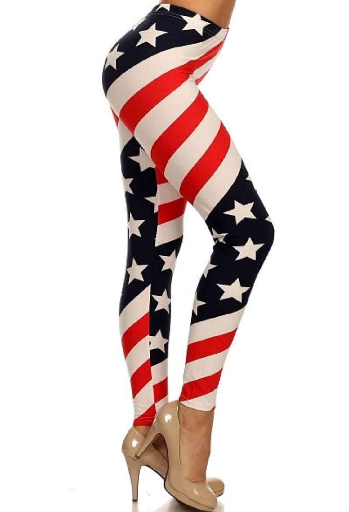 Stars & Stripes Leggings-One Size