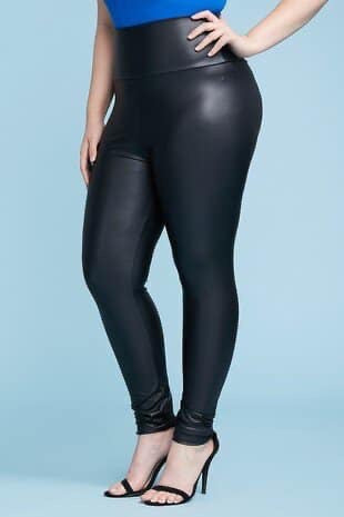 Faux Leather Leggings (Yoga Waistband) Regular & Plus