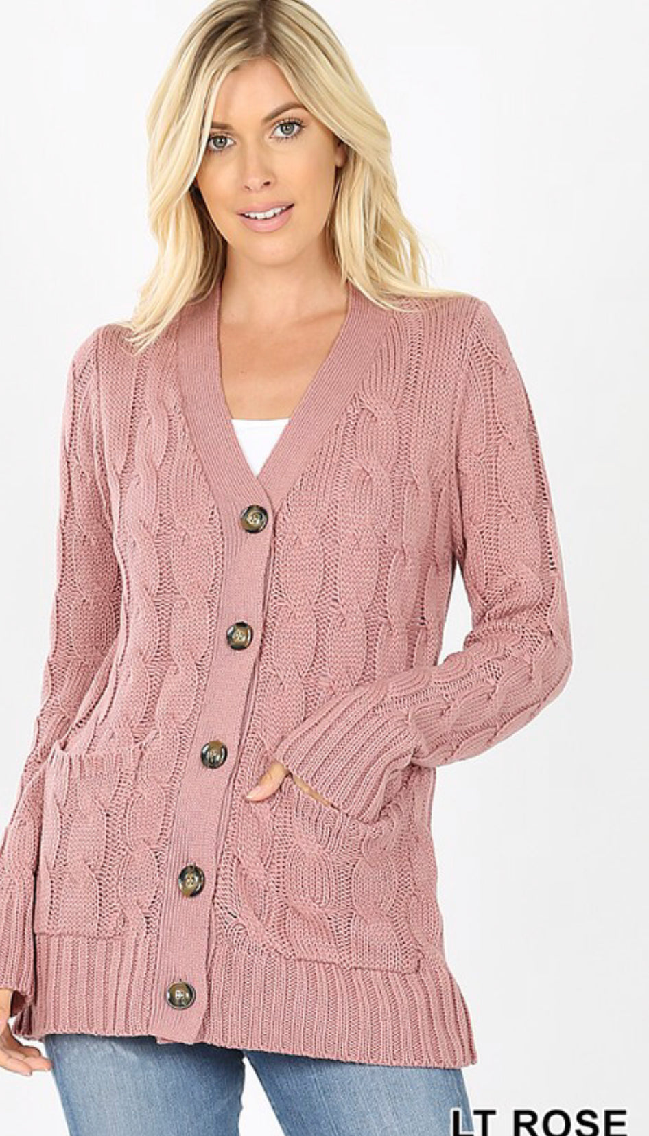 Cottage Cable-Knit Cardigan Sweater