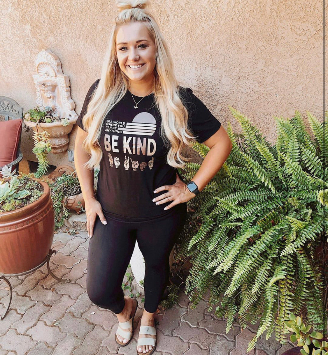 In a world where you can be anything Be Kind Graphic Tee