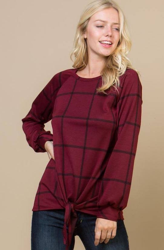 Style Me Up Tie-Front Top-Plus