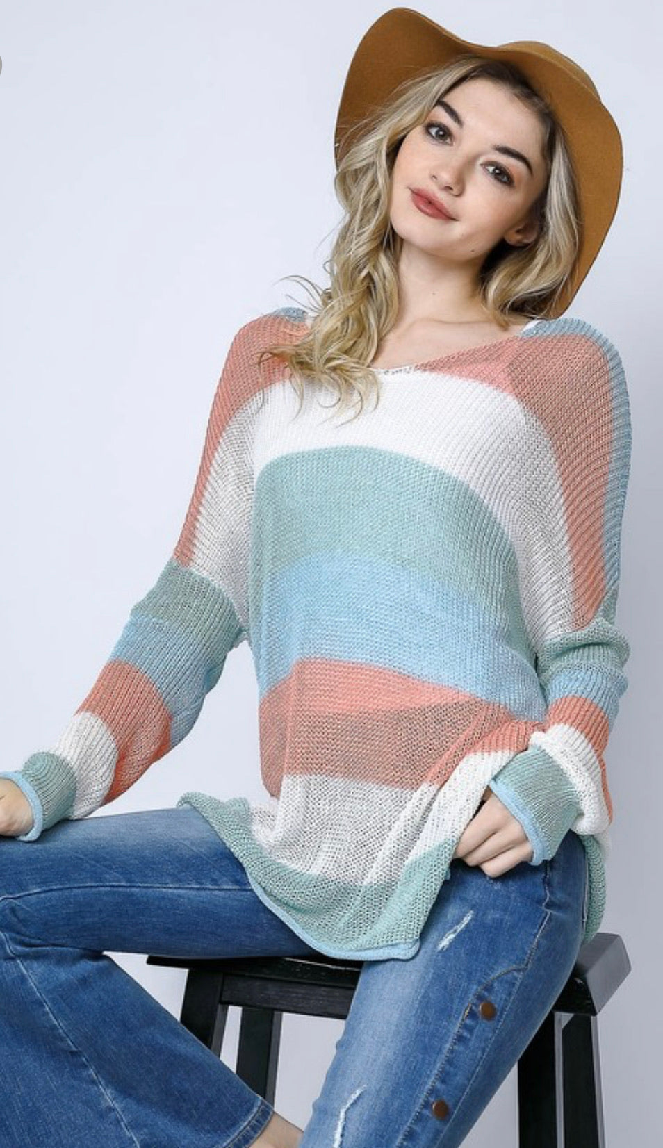 Summertime Striped Sweater
