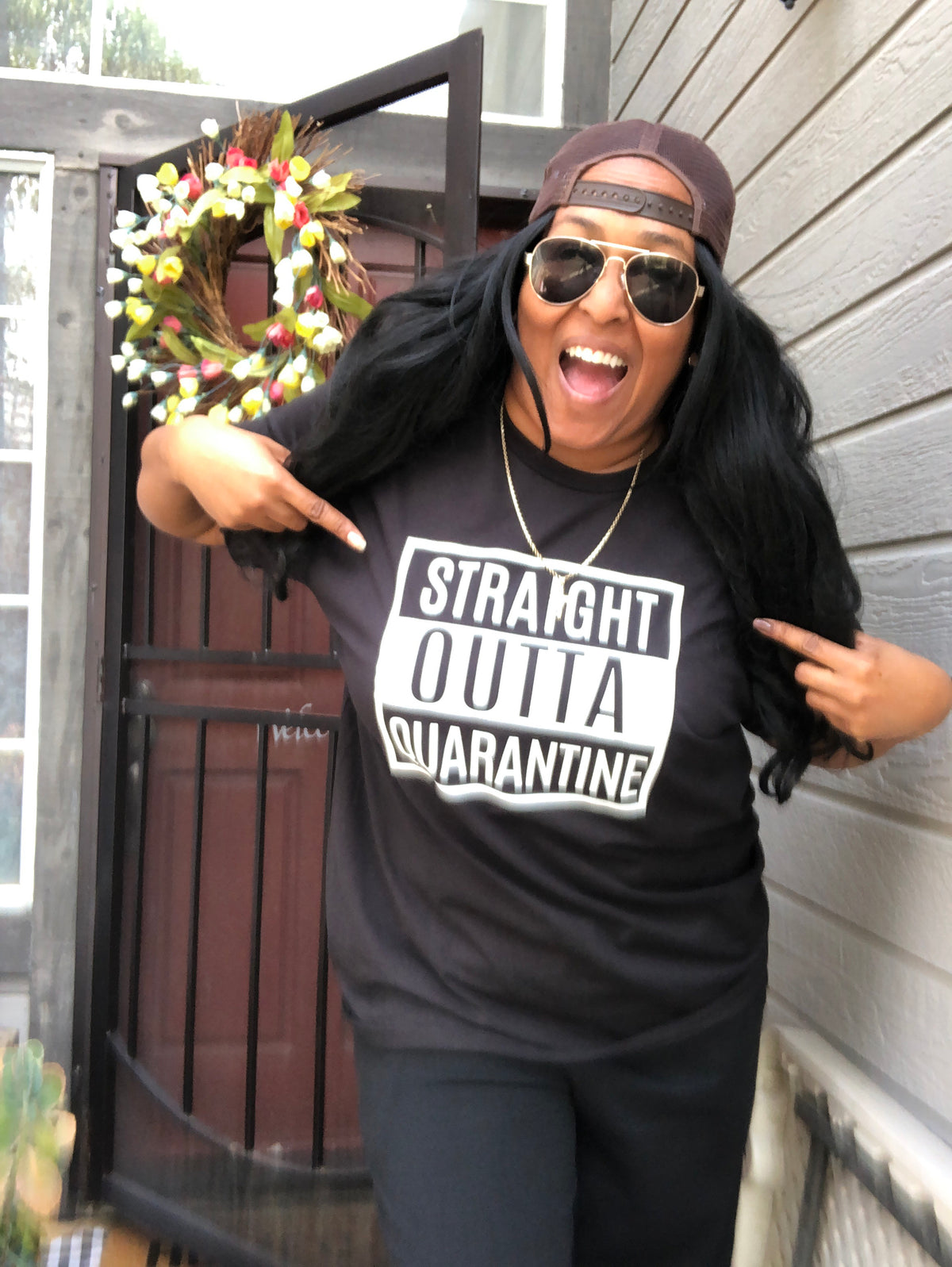 Straight Outta Quarantine Graphic Tee