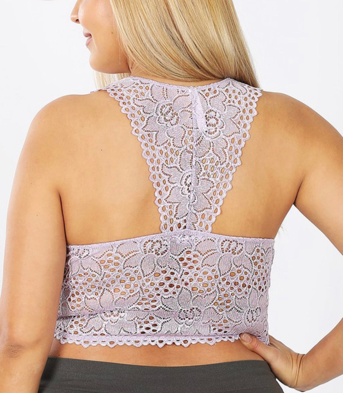 PLUS STRETCH LACE BRALETTE REMOVABLE BRA PADS