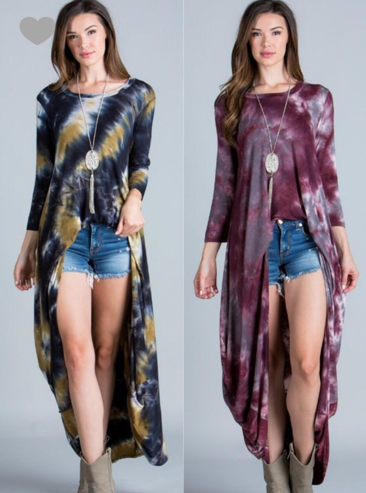 To Dye For Maxi Top-Various Colors!!