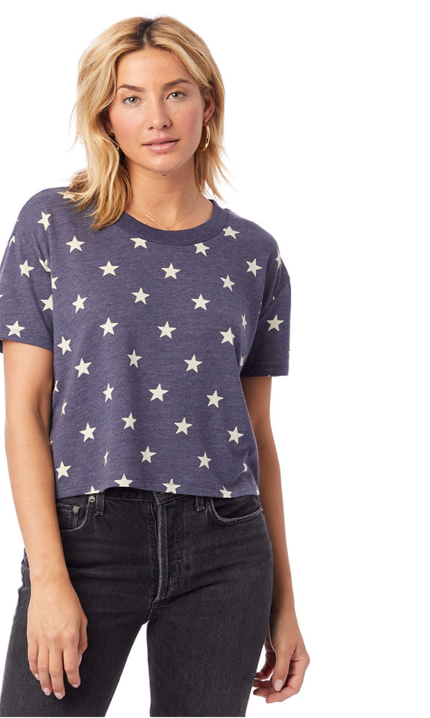 Seeing Stars Crop Tee