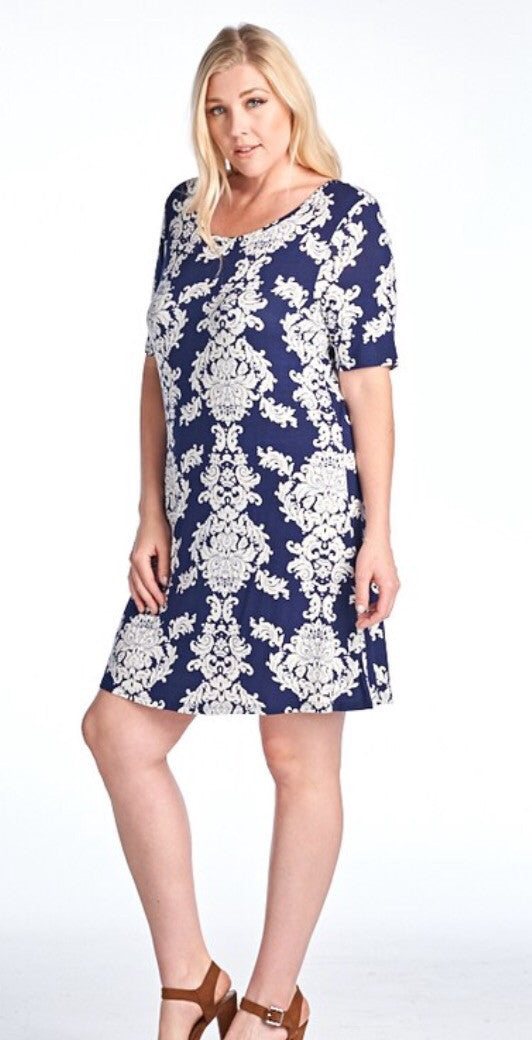 Printed Dress-Plus Size
