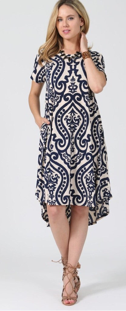 Damask mid-length Dress