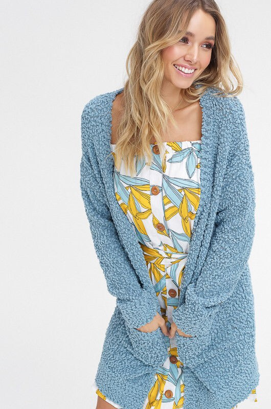 Poppy Popcorn Open Cardigan