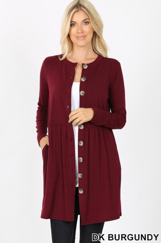 Courtney Button-Front Cardigan