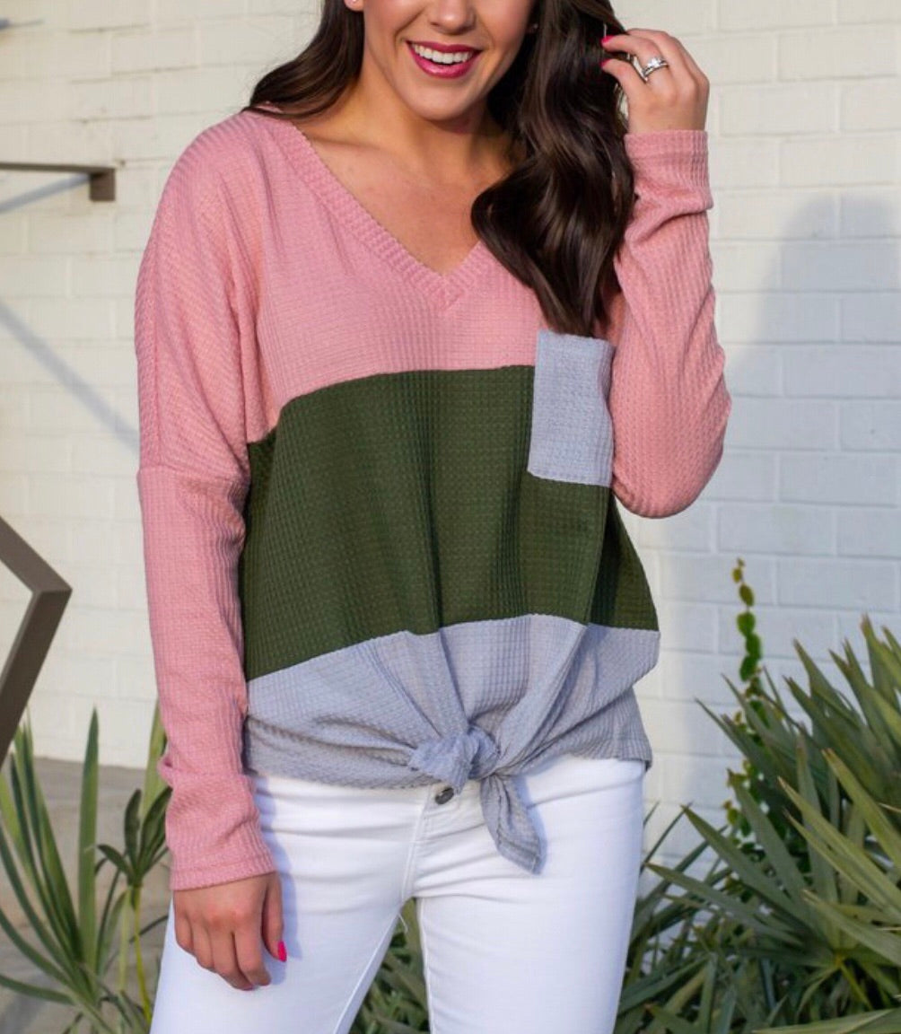 Knot in Love Tie-Front Top
