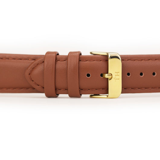 Harvey James Watches - Gold | Chocolate Brown Leather Strap