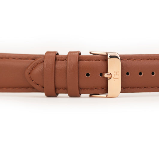 Harvey James Watches - Rose Gold | Chocolate Brown Leather Strap