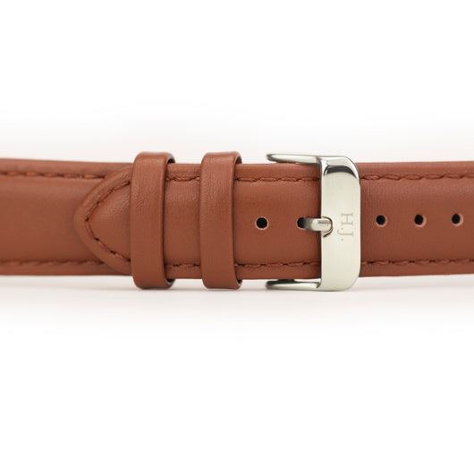 Harvey James Watches - Silver | Chocolate Brown Leather Strap