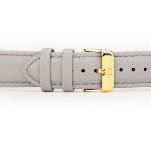 Harvey James Watches - Gold | Cadet Grey Leather Strap