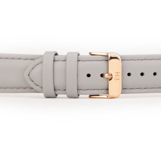 Harvey James Watches - Rose Gold | Cadet Grey Leather Strap