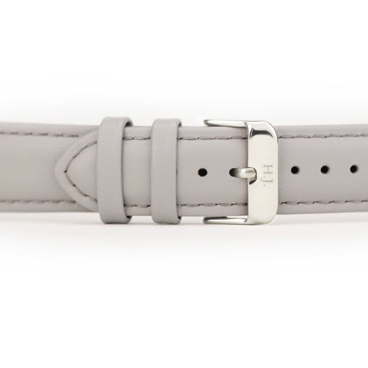 Harvey James Watches - Silver | Cadet Grey Leather Strap