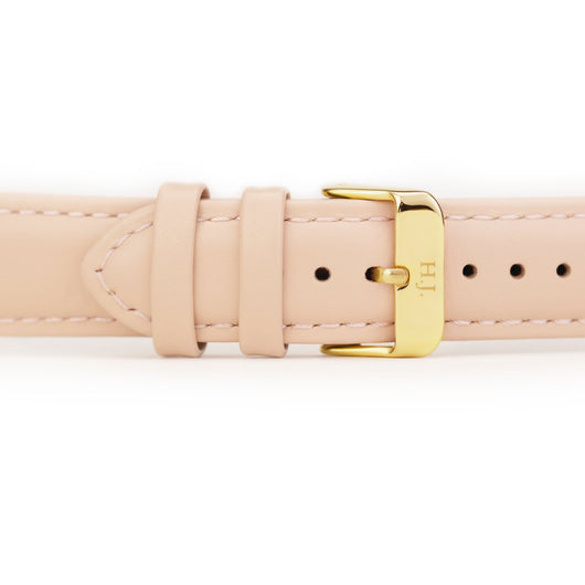Harvey James Watches - Gold | Blush Pink Leather Strap