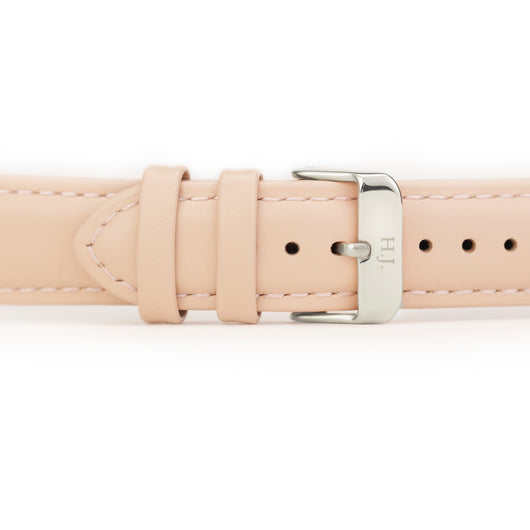 Harvey James Watches - Silver | Blush Pink Leather Strap