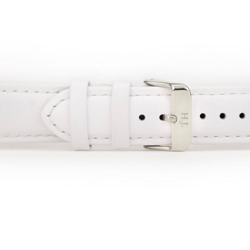 Harvey James Watches - Silver | Pure White Leather Strap