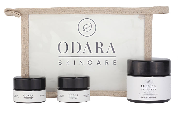 ODARA wildcrafted shea butter balm kit