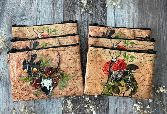 Flora & Fauna Zippered Pouches