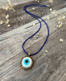 Mother of Pearl Evil Eye Necklace